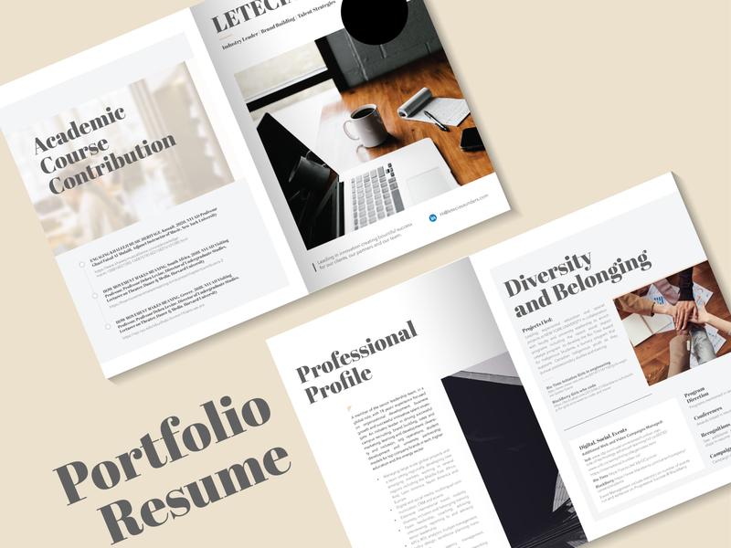 Profile | Portfolio sleek serifs branding minimalist profile brochure illustrator design minimal