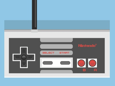 NES controller games video joystick controller nintendo nes