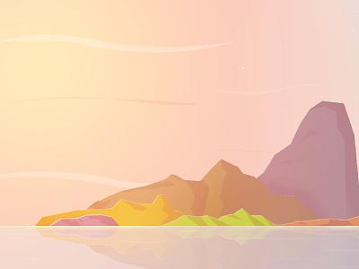 Dusk sky colors island sun dusk scene