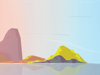 Dusk 2 sky colors island sun dusk scene