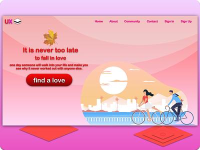 Simple Landing Page Concept website template website design landing page design ux ui illustration ux design ui design
