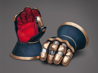 Gloves gloves wacom color sketch painting fast