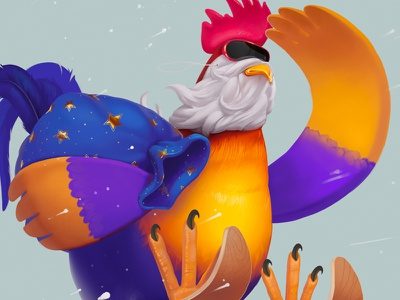 Happy New Year! wallpaper year new art rooster