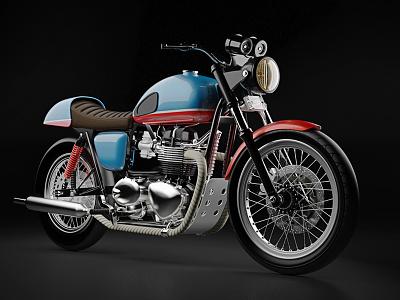 Triumph (study) study substance color wheel model 3d moto bike