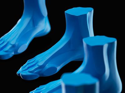 Foot design color blue foot