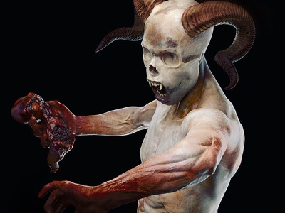 Annihilator's carnival - Fragment 2 body demon guts gore annihilator monster horror satan carnival diablos teeth skull sculpt darkness head horns snake textures model 3d