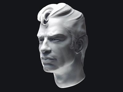 Portrait clay study fast sculpt portrait