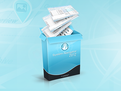 System Navigator 2012 software box program system navigator manager files windows explorer icon ui design download pack unzip zip