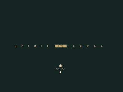 Spirit Level - Premium CBD Oil soul body mind spirit level organic oil cannabis cbd balance level spirit design identity minimal symbol branding logo