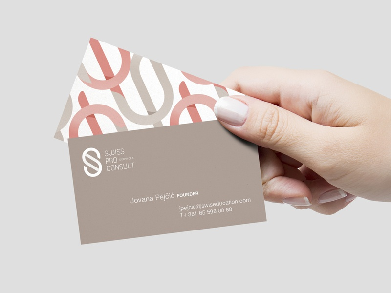 SPC Biz Cards consulting firm pro swiss modern pattern consulting stationery card business identity design branding logo