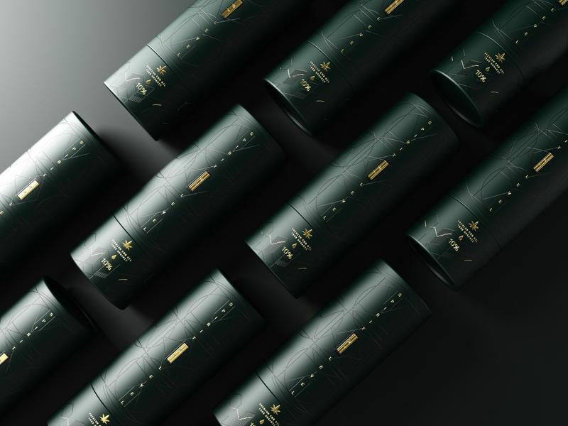 Spirit Level - Premium CBD oil packaging luxury brand design packaging bottles spray health balance gold foil gold tube premium hi-end luxury oil cbdoil cannabis cbd branding