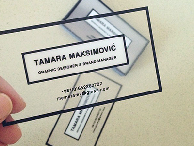 Personal Business Cards branding minimal stationery business card biz card personal modern designer silk manager transparent card