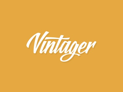Vintager vintager logo logotype calligraphy handwritten letters software photo photography editing application vintage