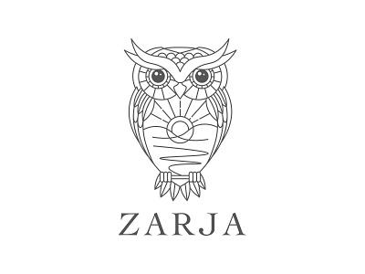Zarja happy wise branding geometry bird logo treatment center rehab addiction sunrise owl