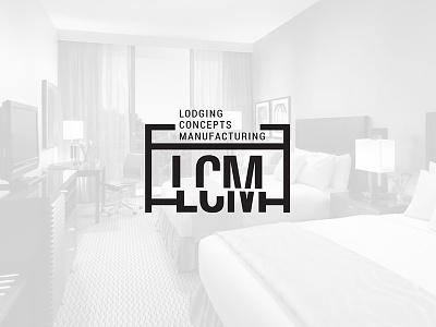 Lcm Logo create cut logo industrial concept luxury wood manufacturing hotel furniture