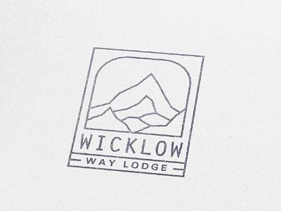Wicklow Way Lodge branding travel nature resort mountain minimal emblem logo