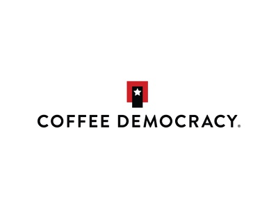 Coffee Democracy symbol star barista capsule nespresso revolution democracy coffee branding logo