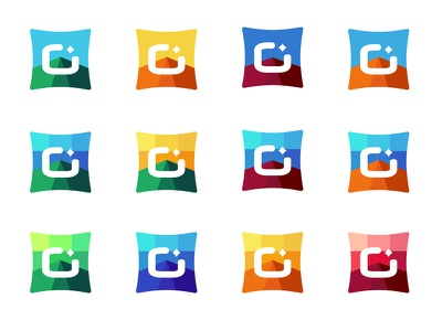 Boxes develop - Color variations diamond gradient money symbol color gaming blockchain bitcoin cryptocurrency credits game logo