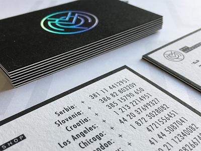 MVP Workshop - Stationery company startup mvp workshop card business foil hologram logo stationery