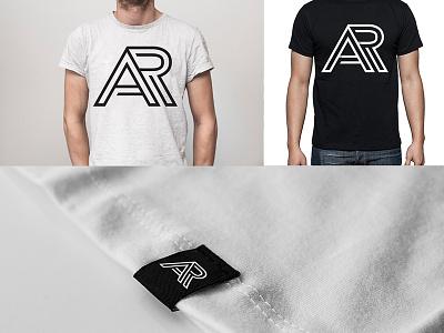 Abraham Rendon typo letter tshirt tag clothing branding symbol logo monogram