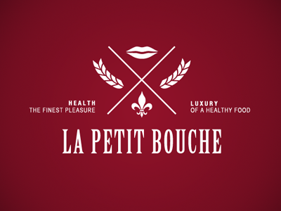 La Petit Bouche bouche lips mouth small healthy food luxury restaurant french france finest bakery sandwiches logo emblem la petit
