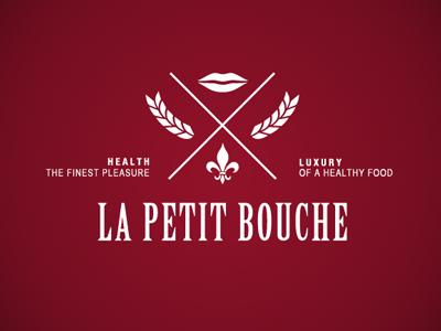 La Petit Bouche bouche lips mouth small healthy food luxury restaurant french france finest bakery sandwiches logo emblem la petit