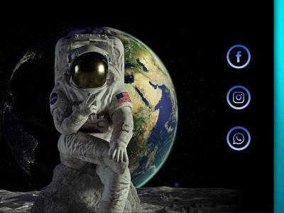 "Landing page ""Tour to the Moon"" 😅 DailyUI003 dailyui-003 dailyui03 dailyui003 design ui dailyui"
