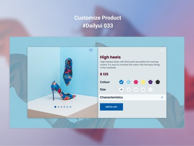 Customize Product, #Dailyui 033 uxdesign dailyui shoes sho shoe shop customize product