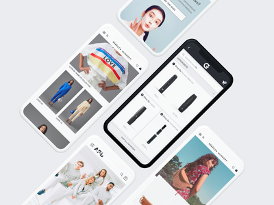 Shopify eCommerce Mobile-First Designs product ui design experience design collection ux ux design ui ecommerce design