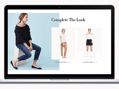 Complete The Look Concept Design related products shop commerce design concept