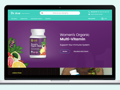 Homepage Design Concept for Wellness Brand nutrition ecommerce hero collection remedies natural wellness design concept homepage
