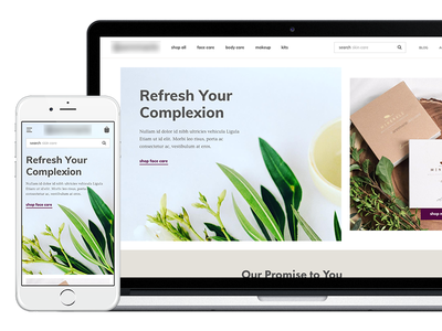 Skincare Brand Homepage Redesign design ux ui hero feature product collection brand skincare homepage ecommerce redesign