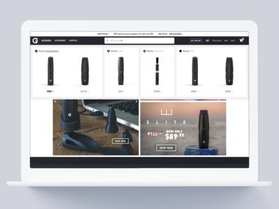 Product-First Desktop Navigation