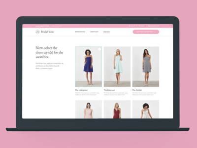 Bridal Suite: Dress Selector