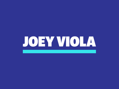 Joey Viola Music Branding strategic design brand design brand identity branding brand wordmark design