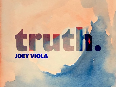 Truth Album Cover handmade design music art original art watercolor handlettering