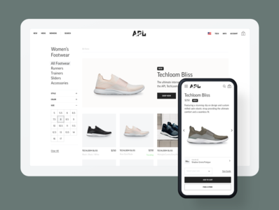 APL Collection + Product Pages