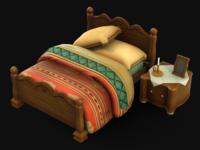 Bedroom - Final Fantasy IX scene fan art asset