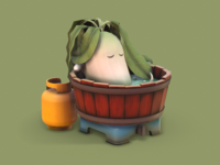Radish in a Bathtub