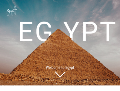 Visit Egypt website minimal web ux ui design illustration
