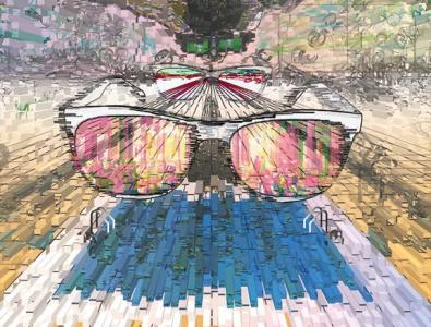 The Diver 3d televison 3d televison illustration