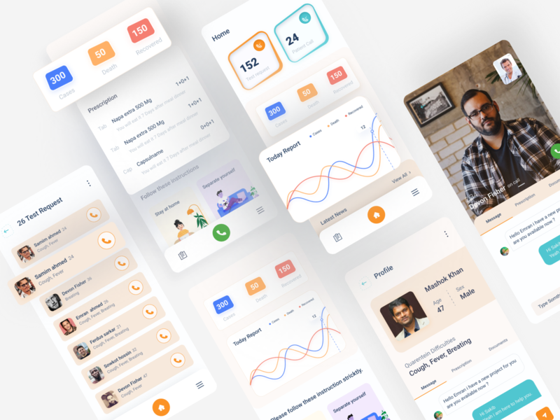 Healthcare App Design appointment booking best app design ui design medical app illustration pixency design system minimal full design clientwork daily activity fitness app health care health app virus covid 19 find doctor health app design medical