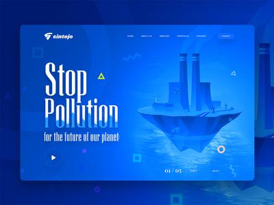 Stop Pollution Free Header Image stop pollution facts stop pollution campaign stop pollution poster stop pollution images stop pollution slider design ux header ui