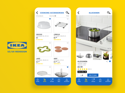IKEA Subcategory Products Screens photoshop adobe xd ui ux design ui ux ios app ios iphone mobile app screens logo yellow blue interaction design ikea ux design ui design design