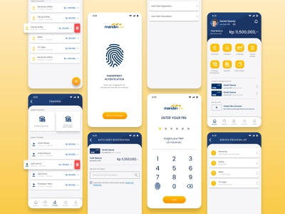 Redesign m-Banking Bank Mandiri homepage login page finance app application ui design inspiration bank app mobile banking app m-banking mobile banking revamp redesign ui