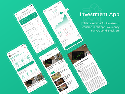 Investment App invest investment app investment finance app design application app ui inspiration