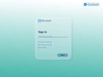 Outlook.com Sign-in Page Concept Design #1 ui webdesign website design website signup sign in login outlook microsoft
