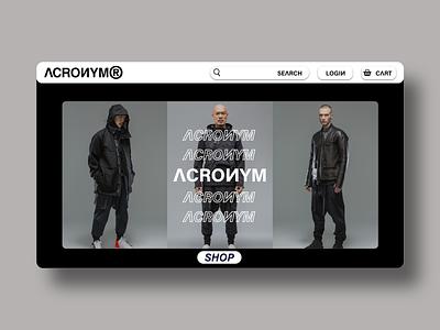 ACRONYM Landing Page Concept Design design landing page design landing page shop website web acronym