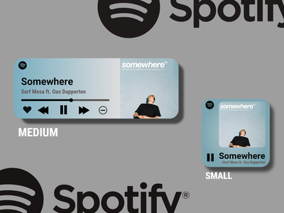 Spotify Widgets : Weekly Warm-up #48 somewhere gus dapperton surf mesa ios widget spotify weekly warm-up