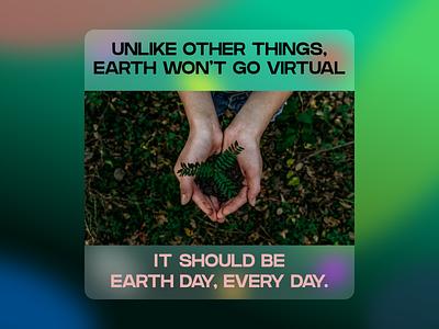 Weekly Warmup (64) virtual 2021 visual design earthday